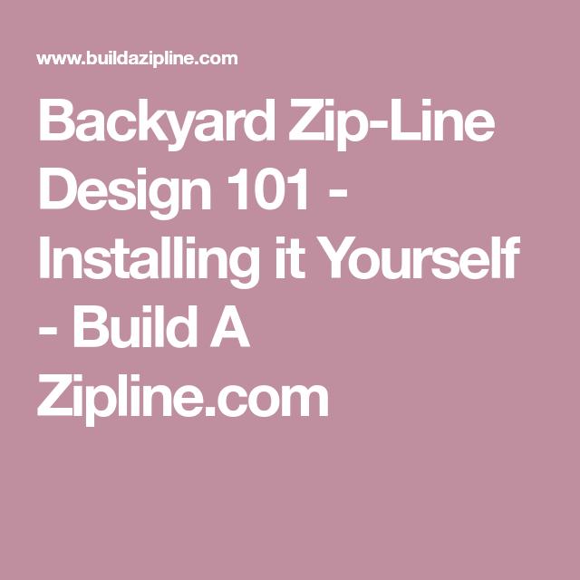 Backyard zip line design 101 installing it yourself build a backyard zip line design 101 installing it yourself build a zipline solutioingenieria Images