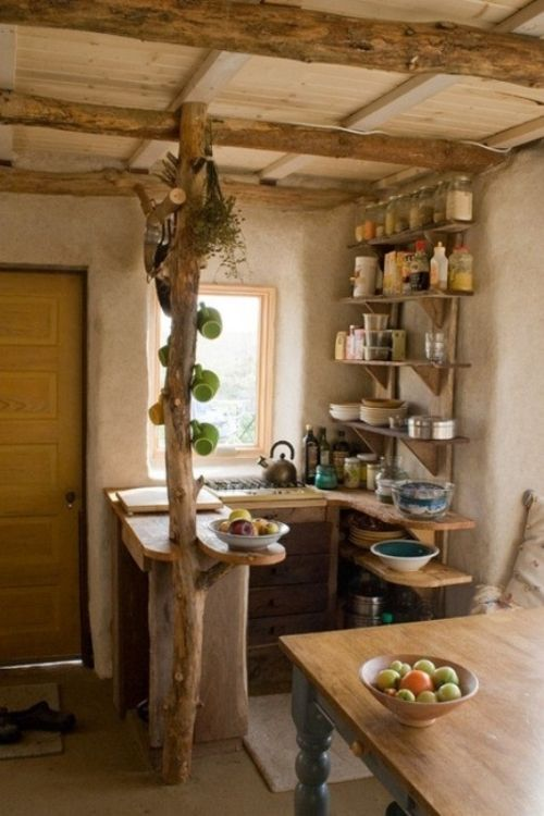 kreative ideen kleine küche holz material organización - küche aus holz