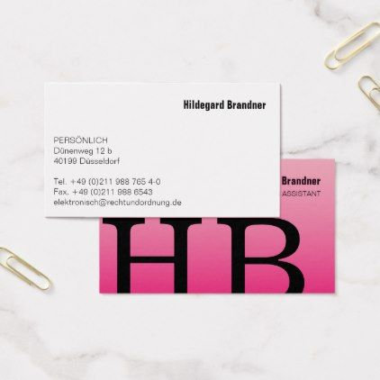 Typography and pink color business card consultant business job typography and pink color business card consultant business job profession diy customize reheart Choice Image
