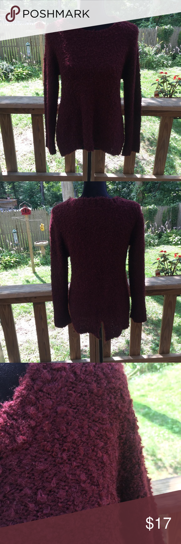 73c894bdd3b Philosophy Split Back Sweater Petite Medium Very cute and cozy sweater with rear  split.