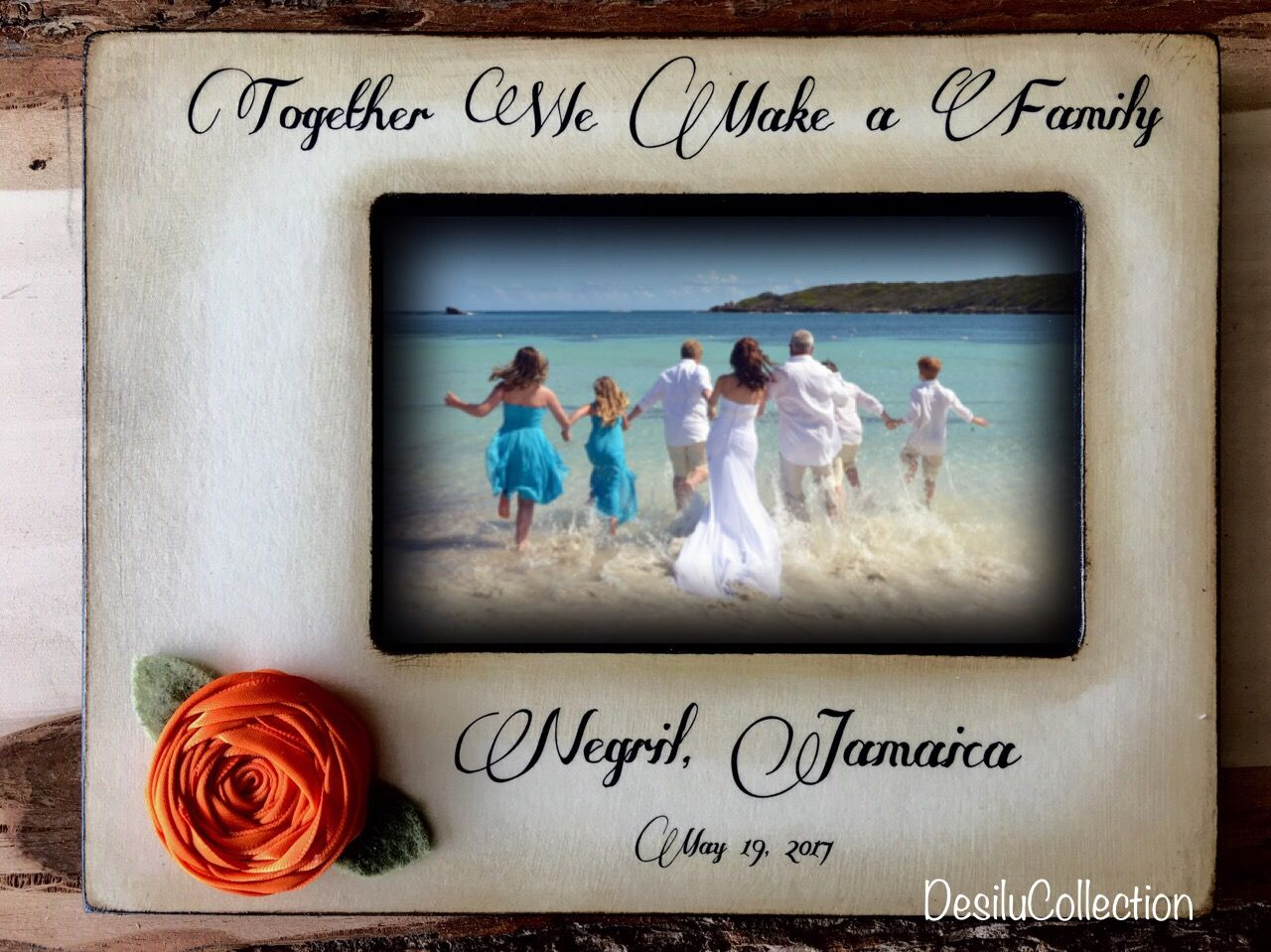 Together we make a family, Blended Family Wedding Gift, destination ...