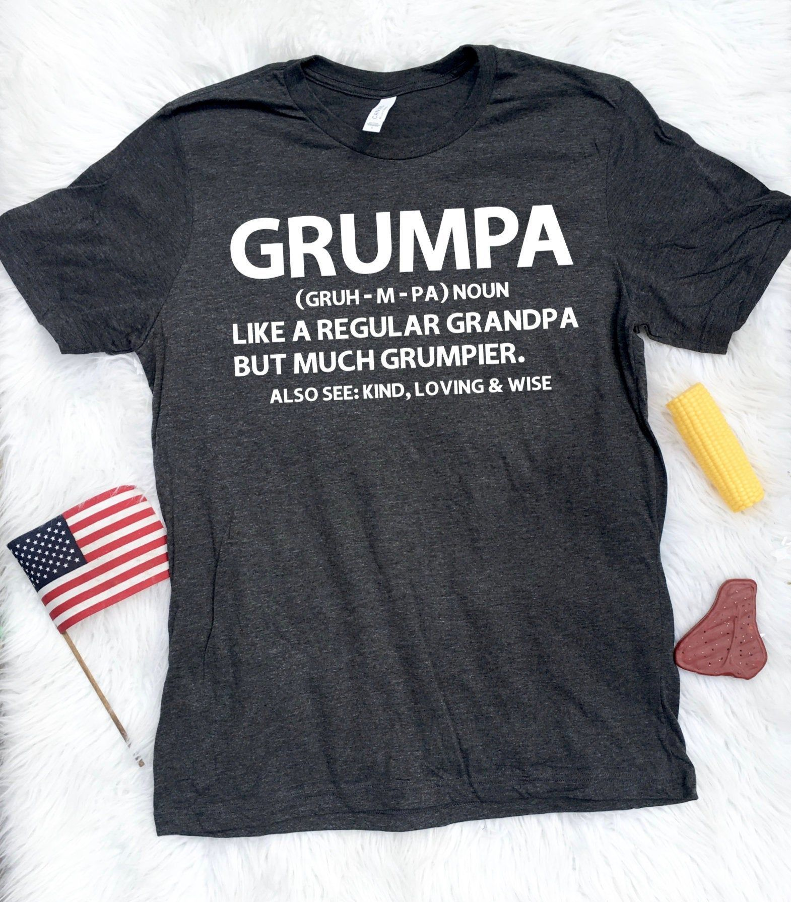 Grumpa Like A Regular Grandpa Only Grumpier T-Shirt, Best Papa Shirt, Grumpa Definition TShirt, Christmas Grandpa, Gift for Grandpa, Crabby #grandpagifts