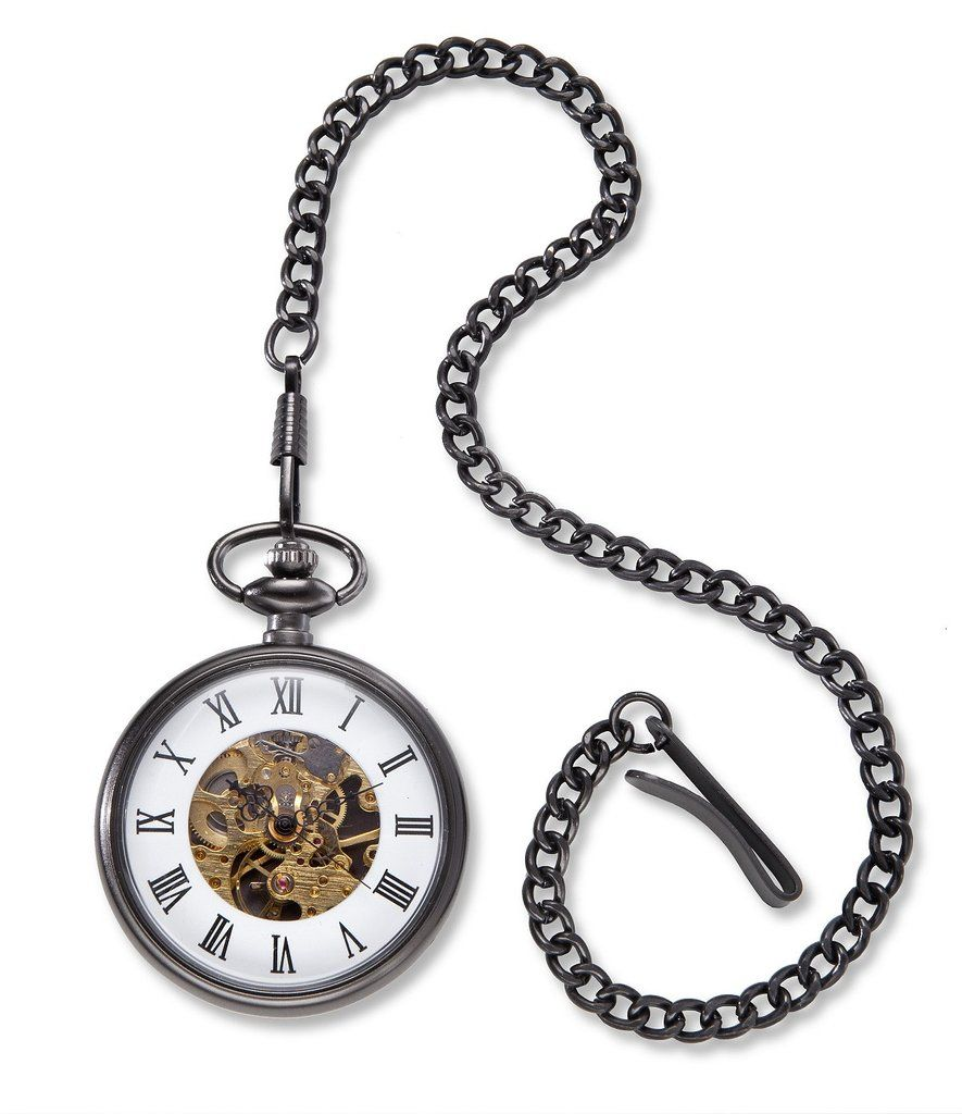 0930d4005 Gunmetal Gray Exposed Gears Pocket Watch | Father's Day | Pocket ...