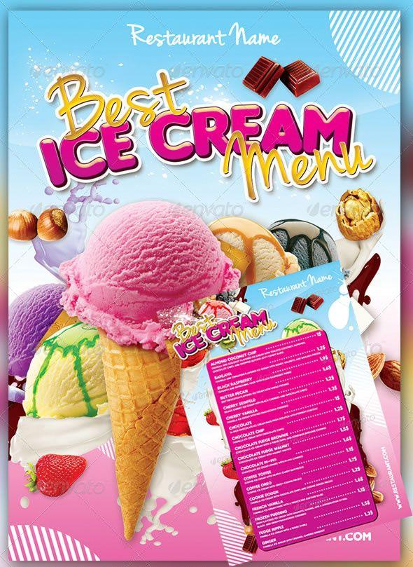ice cream menu menu designs pinterest menu template food menu