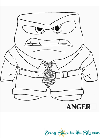 Inside Out Anger Coloring Page Inside Out Coloring Pages Easy Disney Drawings Coloring Pages