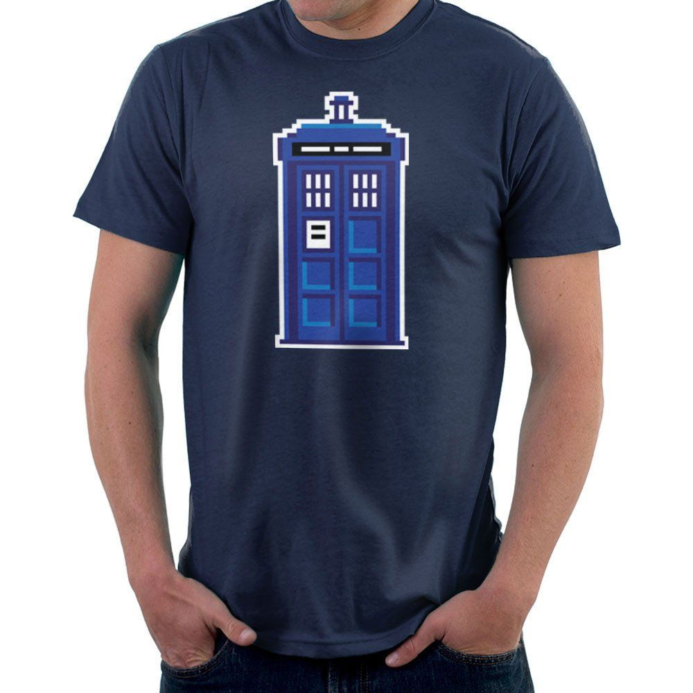 a167d1b2c Pixel Tardis Doctor Who Men's T-Shirt | Pinterest | Tardis and Fan art