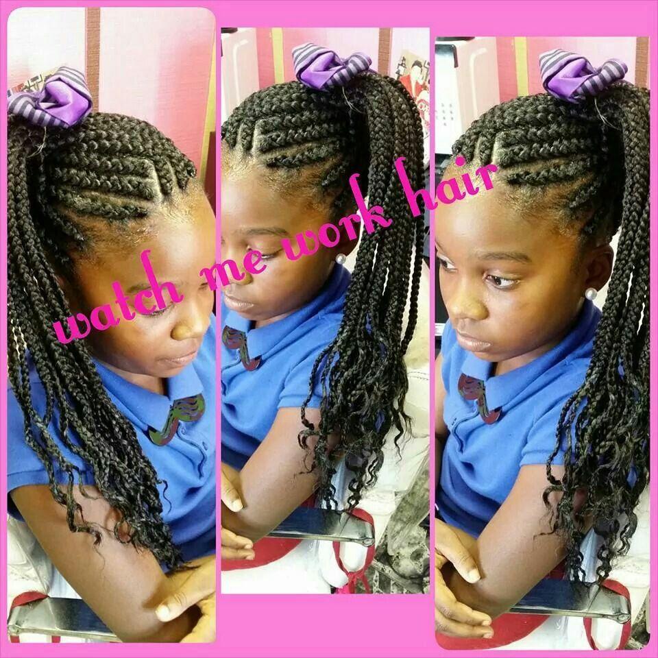 Kids Updo Scalp Braids Scalp Braids Work Hairstyles Kids Hairstyles