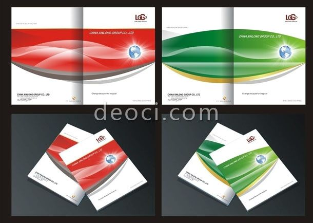 Company brochure cover design cdr vector design template for Coreldraw brochure templates
