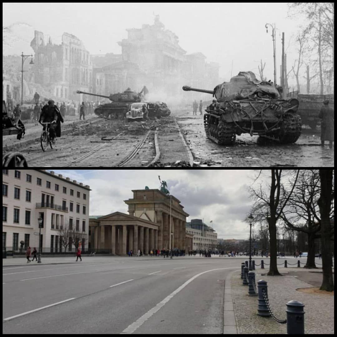 Ww2nowandthen On Instagram Soviet Troops Advancing Near The Brandenburger Tor In Berlin Germany April 1945 In 2020 World War Two Soviet Troops Germany
