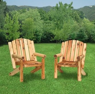 Hearthside Adirondack Log Chair: Unique Rustic Charm Found Only In Genuine  Amish Made Log