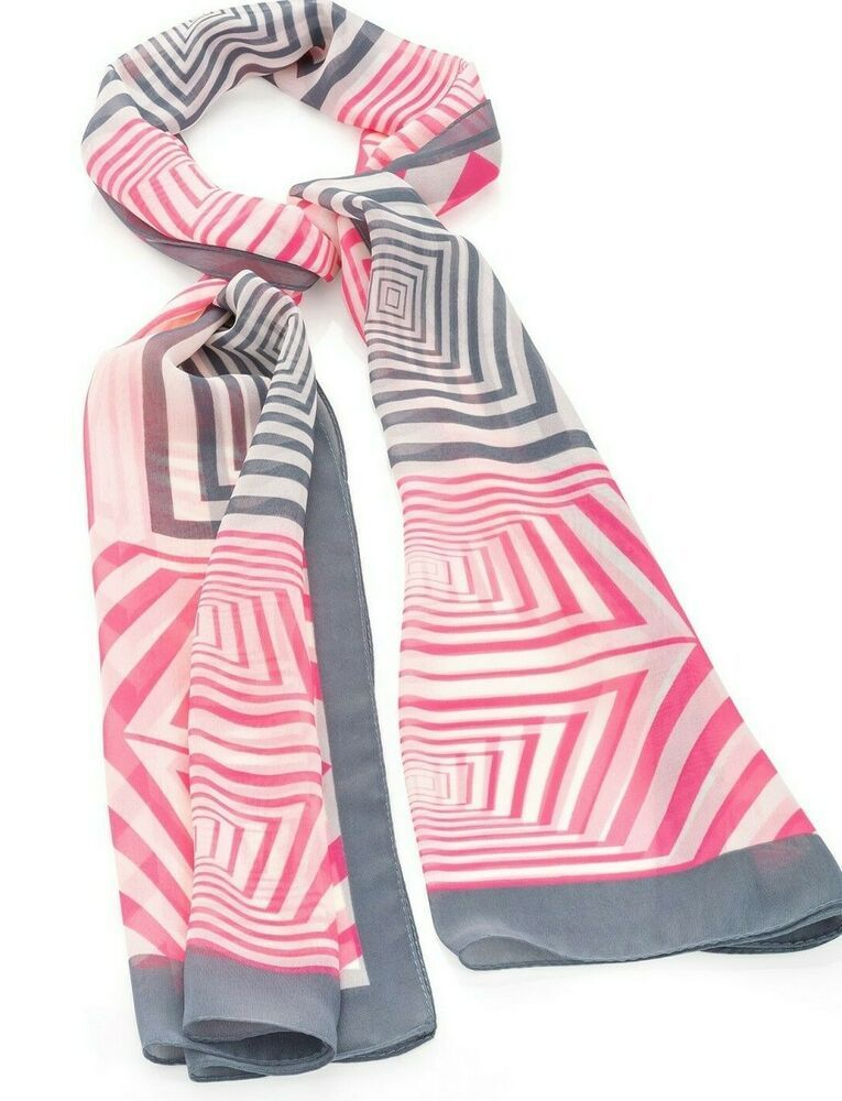 Fashion Women Ladies Long Plain Satin Stripe Scarf  Wrap Stole Neck Choir Scarf