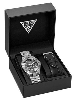 Guess Watch Men S Waterpro Sport Boxed Set U10514g1 All Watches Jewelry Macy Wedding Gift For Shannon