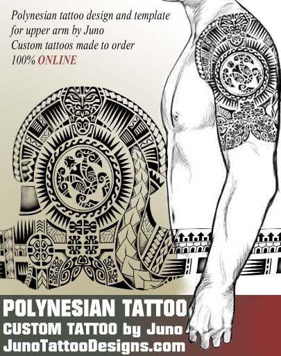 polynesian tribal tattoo, polynesian design, samoan tattoo - tattoo template
