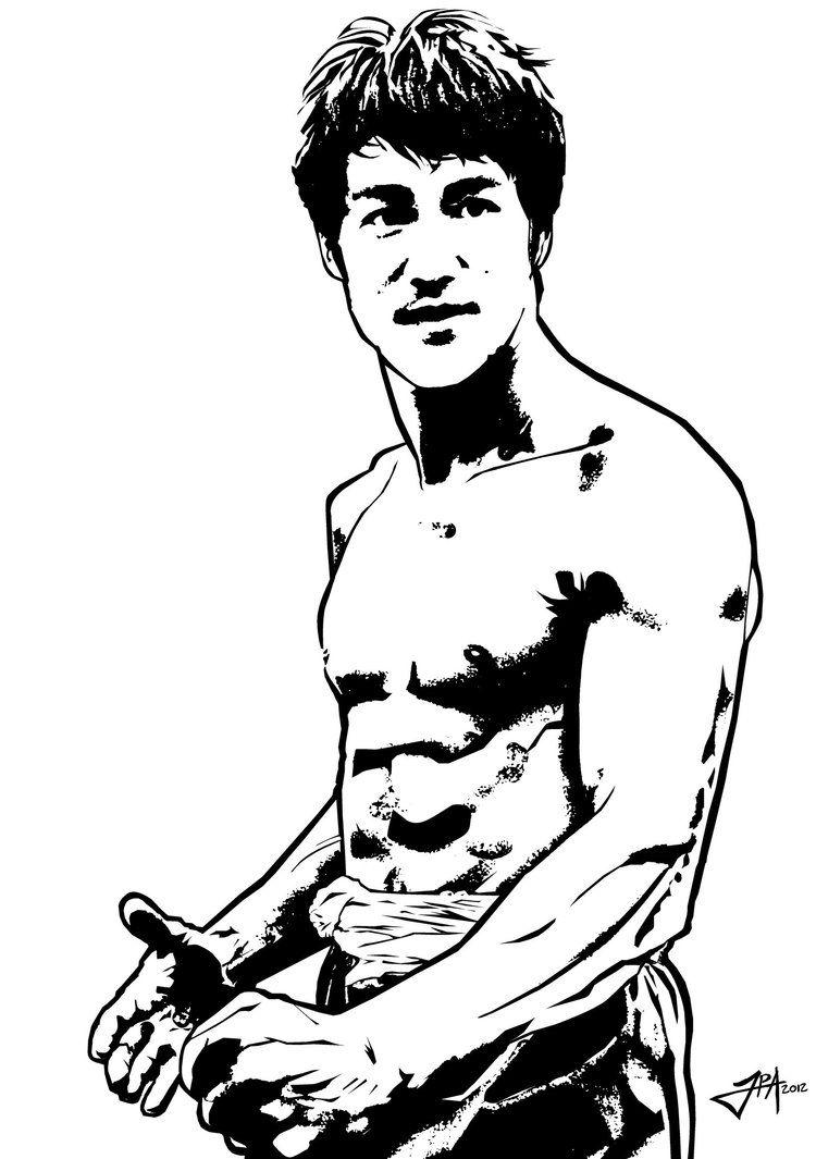 Black White Vector Portrait Of Bruce Lee Bruce Lee Art Bruce Lee Martial Arts Bruce Lee Photos