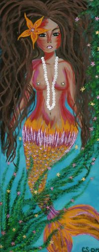 """Aloha Mermaid"" by CSchenkART"
