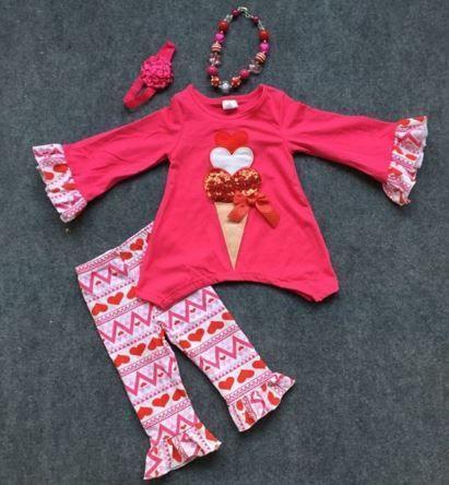 Heart Ice Cream Aztec Pant Set