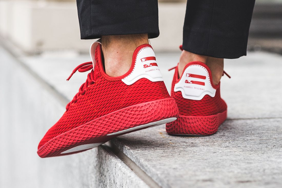 On Foot: Pharrell's New adidas Tennis Hu Collection