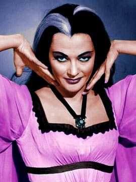 Lily Munster in pink