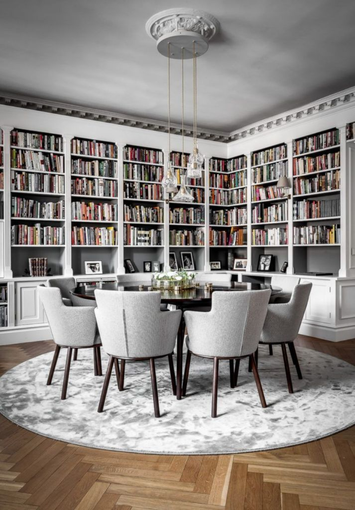 The 15 Most Beautiful Dining Rooms on Pinterest - #Beautiful #dining #library #Pinterest #Rooms #diningroom