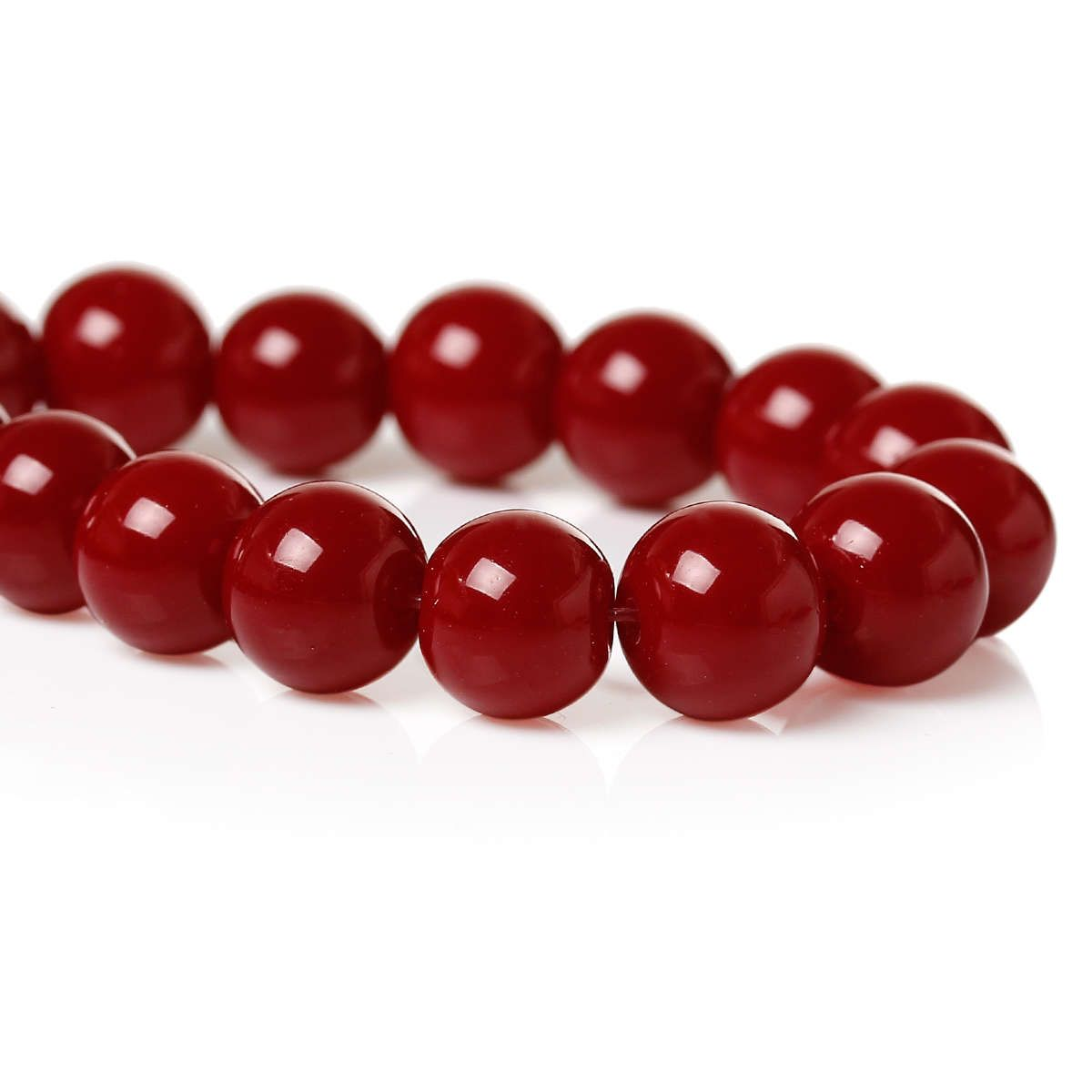 40 Red Wine Glass Beads 8mm Jewelry Making Supplies Red Beads Beads B1371 Glass Beads Red Bead Jewelry Making Supplies