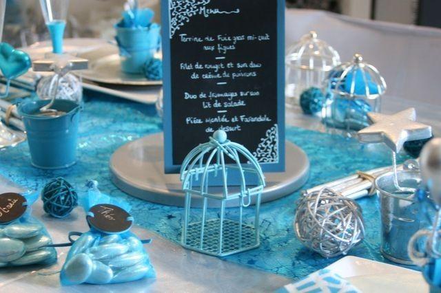 table-turquoise-chocolat-baptême | Décoration intérieure ...