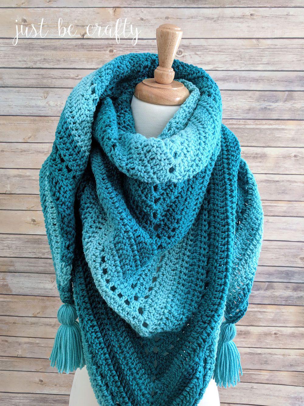 Crochet Triangle Shawl Pattern Free Crochet Pattern By Scarves