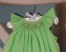 green smocked dress - Google Search