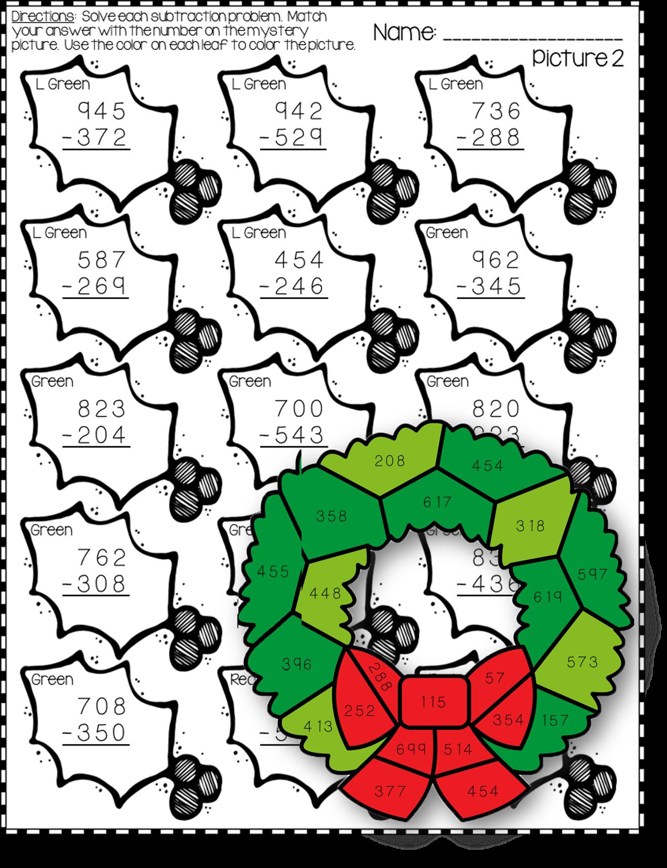 Pin By Pinning Teacher On Christmas Math Activities