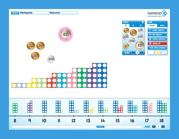 Numicon tools in action, software for the interactive