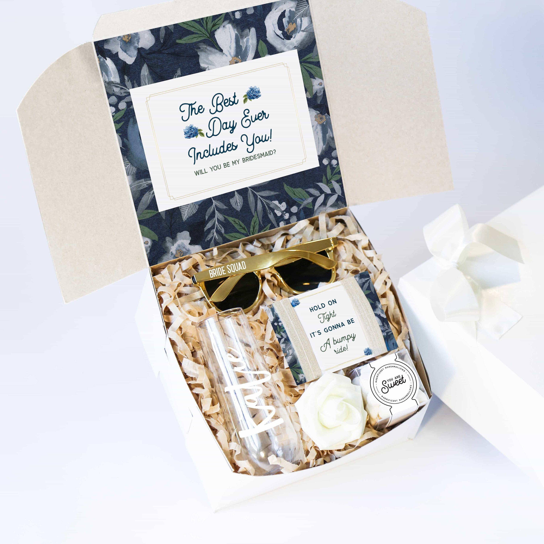 Personalized Bridesmaid Gift Box Bridal Shower Gift Box Birthday Gift Box Bridesmaid Proposal Gift Box Graduation Gift Box