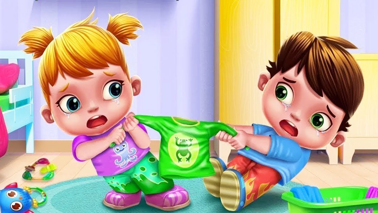 Baby twins newborn care terrible two kids game for kids