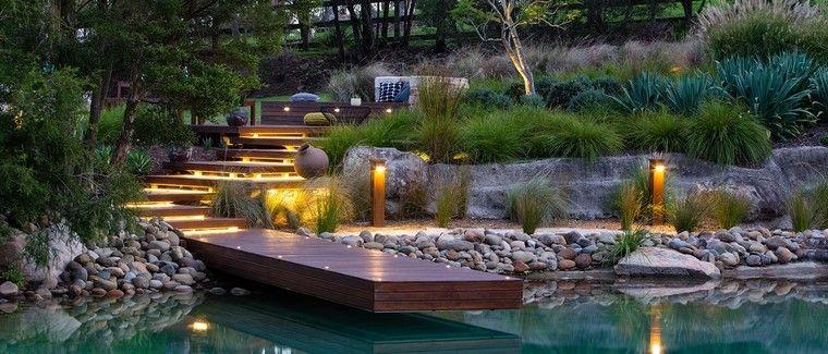 Diseño de jardines modernos - 100 ideas impactantes - jardines modernos