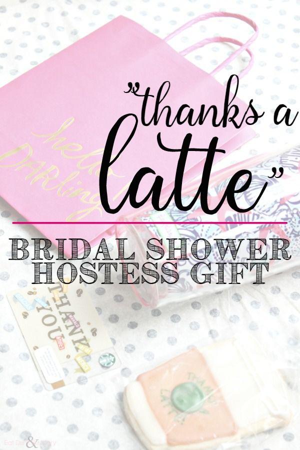 thanks a latte hostess gift bridal shower hostess gift coffee thankyou latte thanks