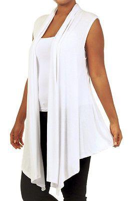 Cardigan-WHITE-Sleeveless-Vest-Drape | Wardrobe Pieces | Pinterest ...