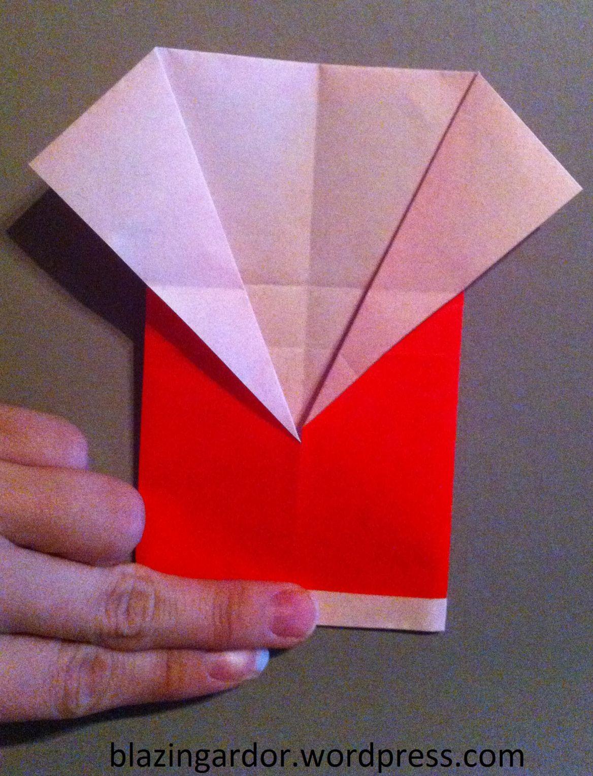Origami Santa How To Guide Origami Santa Origami Birthday Card Design