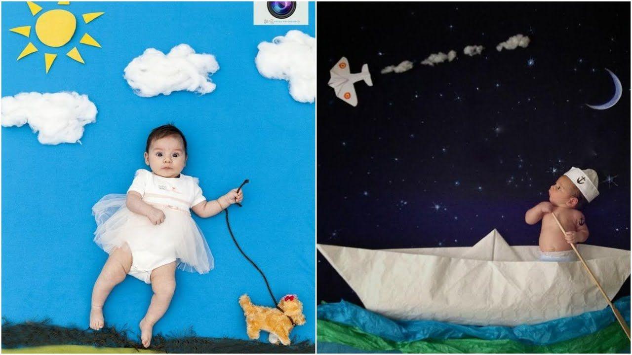 Diy Amazing Baby Photo Shoot Ideas At Home Latest Creative Baby Phot Diy Newborn Photography Creative Monthly Baby Photos Baby Photography