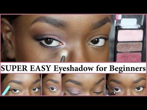 super easy beginners eyeshadow  youtube  beginner