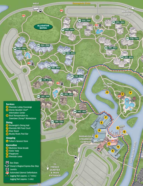 Port Orleans Riverside Resort Map in 2018 | Disney Vacation Ideas ...