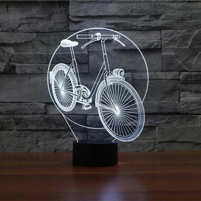 Cycle 3d Illusion Lamp 3d Illusion Lamp Led Lamp Design 3d Led Lamp