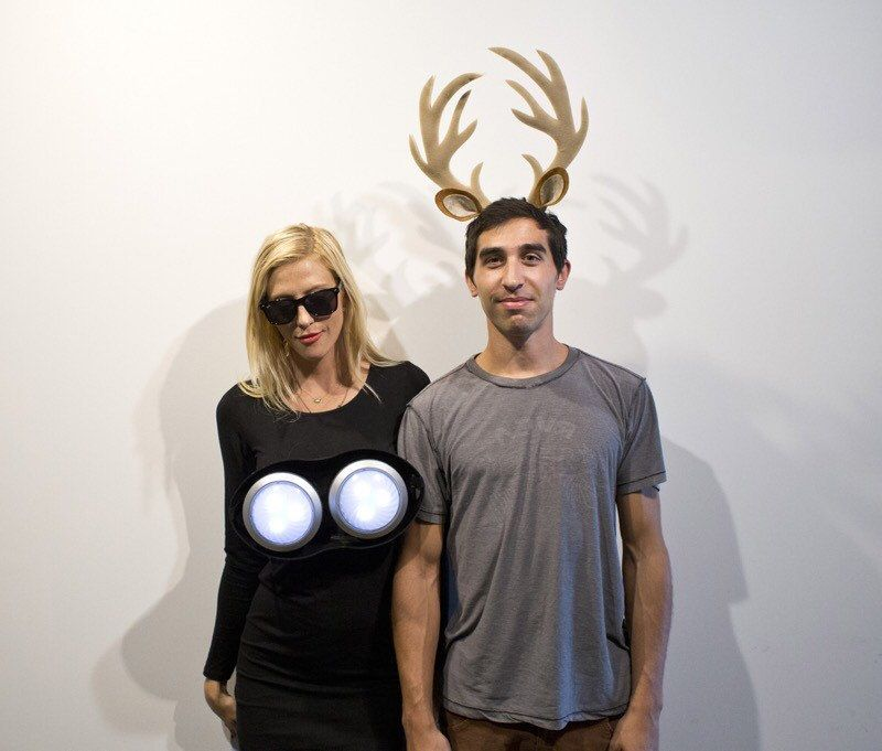 deer in the headlights couples halloween costume pun play on words adult funny haloween men women couple costume idea humorous dear costum by