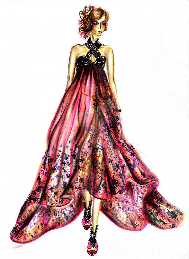 Summer Dress Design By Serge Fashion Designer Summer Dresses Fashion Design Drawing