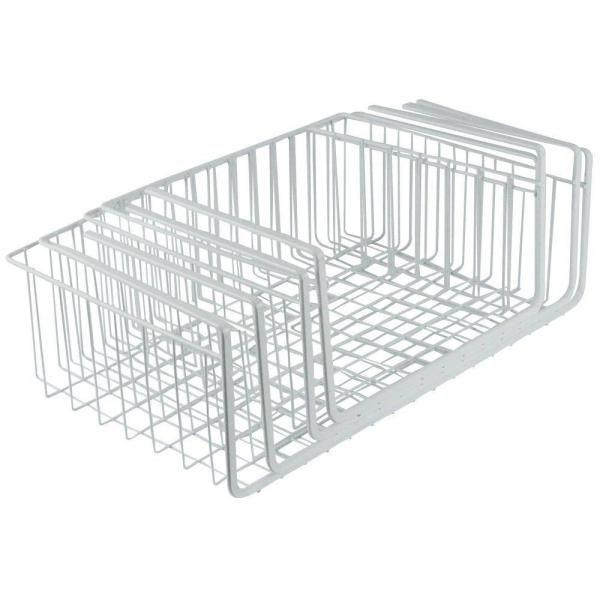 Best Southern Homewares 4 Piece Steel White Wire Under Shelf 400 x 300