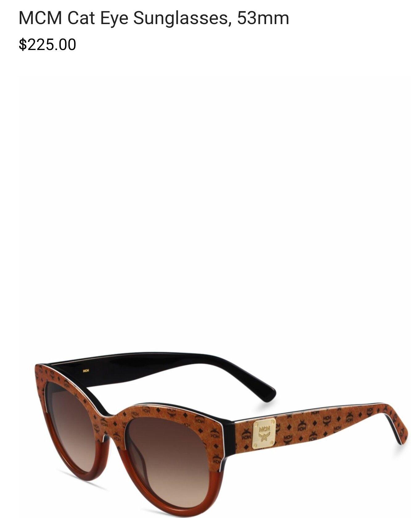 34ce6089ef Cognac Visetos  Gradient Lens MCM Sunglasses Cat Eye Sunglasses