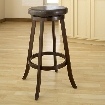 Bellewood Backless Swivel Counter Stool Dining Table In Kitchen