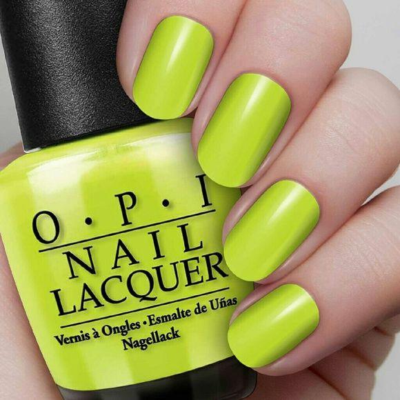 OPI Brights Nail polish Lacquer Enamel Yellow | Esmalte, Arte de ...