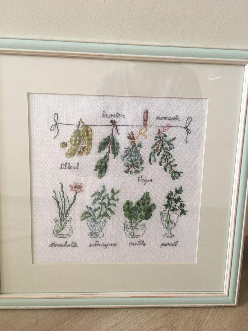 Dans mon jardin point de croix, Veronique Enginger. Пряные травы