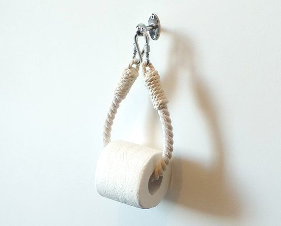 Toilet Paper Rope Holder..Industrial Decor..Toilet Roll