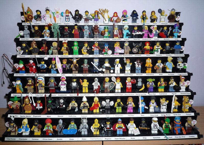 Minifigure Display Frame case Pirates of the Caribbean figures
