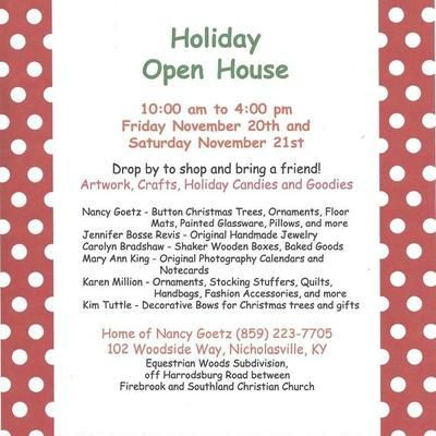 Photo titled 2015 Polka Dot Holiday Open House Flyerjpg - open house flyer