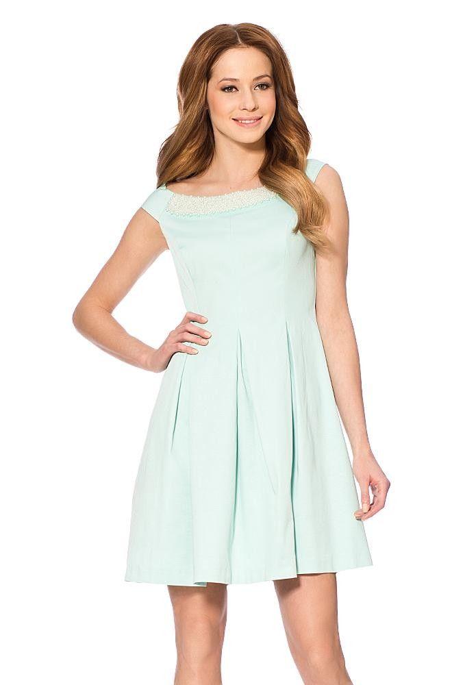 Kleid mit Perlendetails | Schöne kleider kaufen, Kleider ...